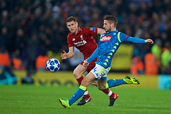 LIVERPOOL, ENGLAND - Tuesday, December 11, 2018: Napoli's Dries Mertens during the UEFA Champions League Group C match between Liverpool FC and SSC Napoli at Anfield. (Pic by David Rawcliffe/Propaganda)