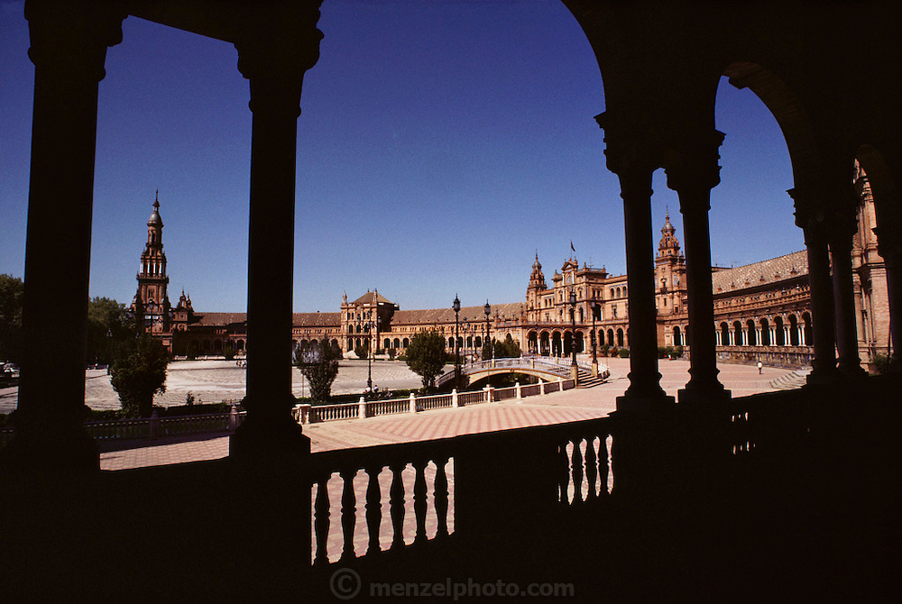 Plaza de Espana in Seville, Spain.