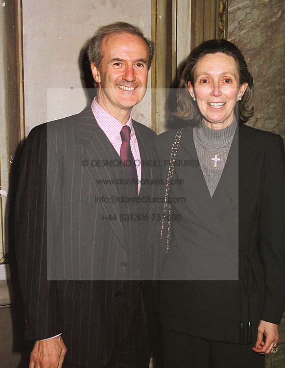 MR & MRS MICHAEL BRINTON, he is M/D of Brinton Fine Carpets, at a reception in London on 20th January 1999.MNI 3