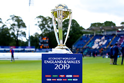 The Cricket World Cup Trophy at The Cardiff Wales Stadium (Sophia Gardens) - Mandatory by-line: Robbie Stephenson/JMP - 08/06/2019 - CRICKET - Cardiff Wales Stadium - Cardiff , England - England v Bangladesh - ICC Cricket World Cup 2019 Group Stage