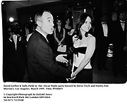 David Geffen &amp; Sally Field at  the  Oscar Night party hosted by Steve Tisch and Vanity Fair. Morton's. Los Angeles. March 1995. 955440/5<br />&copy; Copyright Photograph by Dafydd Jones<br />66 Stockwell Park Rd. London SW9 0DA<br />Tel 0171 733 0108