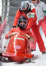 19.02.2018, Olympic Sliding Centre, Pyeongchang, KOR, PyeongChang 2018, Bob, Zweisitzer, Herren, im Bild Benjamin Maier, Markus Sammer (AUT) // Benjamin Maier Markus Sammer of Austria during the mens doubles Bobsleigh of the Pyeongchang 2018 Winter Olympic Games at the Olympic Sliding Centre in Pyeongchang, South Korea on 2018/02/19. EXPA Pictures © 2018, PhotoCredit: EXPA/ Johann Groder