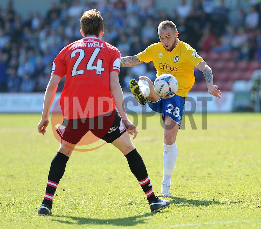 Bristol Rovers' Adam Dawson  - Photo mandatory by-line: Neil Brookman/JMP - Mobile: 07966 386802 - 06/04/2015 - SPORT - Football - Kidderminster - Aggborough - Kidderminster v Bristol Rovers - Vanarama Football Conference