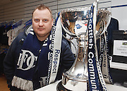 """Dundee fans with Scottish League Cup - ..To download a low resolution picture for your Facebook etc. click download above and enter password 'league cup' - ..You can purchase a 5x7"""" print by clicking 'Add to Cart' above - prints cost £3 plus £1 postage and packing.. - © David Young - www.davidyoungphoto.co.uk - email: davidyoungphoto@gmail.com"""