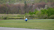 Wurtsboro, NY - A glider lands during the grand reopening of Wurtsboro Airport on May 11, 2008.