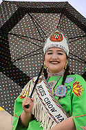 Miss Crow Nation 2018 Kayjah Twinn in Crow Fair parade at Crow Indian Reservation in Montana