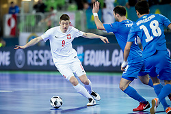 Tomazs Lutecki of Poland during futsal match between Poland and Kazakhstan at Day 3 of UEFA Futsal EURO 2018, on February 1, 2018 in Arena Stozice, Ljubljana, Slovenia. Photo by Urban Urbanc / Sportida
