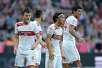 FUSSBALL   1. BUNDESLIGA  SAISON 2012/2013   2. Spieltag FC Bayern Muenchen - VfB Stuttgart      02.09.2012 William Kvist , Shinji Okazaki, Francisco Rodriguez (V. LI., VfB Stuttgart)