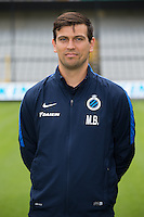 Club's video analyst Mario Ballegeer poses for the photographer during the 2015-2016 season photo shoot of Belgian first league soccer team Club Brugge, Friday 17 July 2015 in Brugge