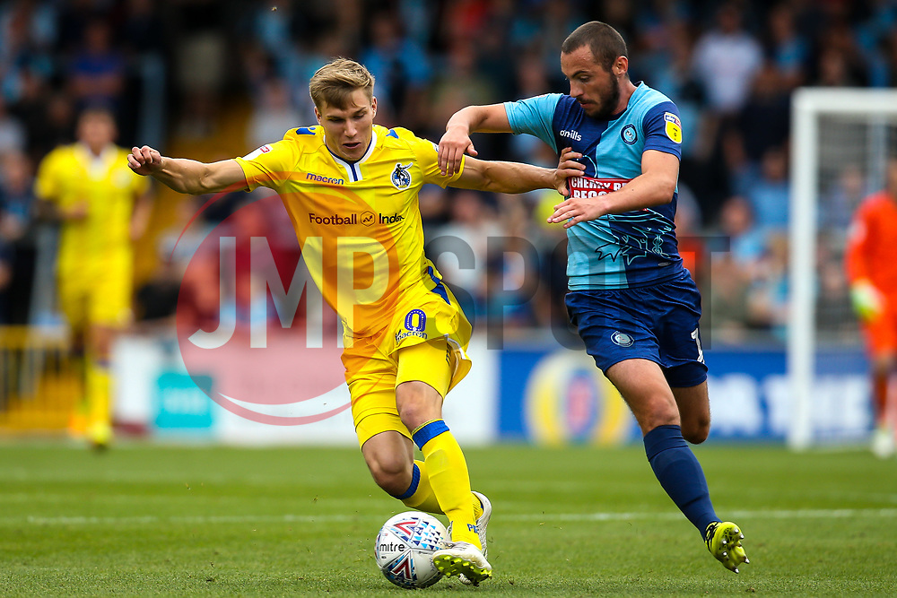 Gavin Reilly of Bristol Rovers takes on Michael Harriman of Wycombe Wanderers - Mandatory by-line: Robbie Stephenson/JMP - 18/08/2018 - FOOTBALL - Adam's Park - High Wycombe, England - Wycombe Wanderers v Bristol Rovers - Sky Bet League One