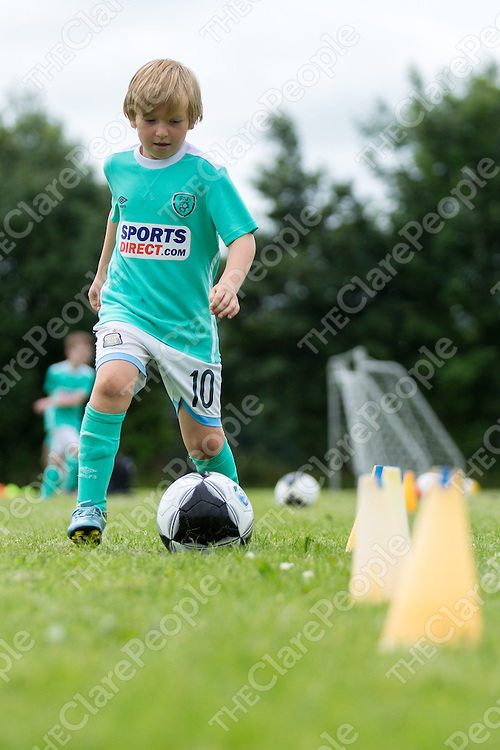 Marco O'Callaghan from Newmarket-on-fergus doing some soccer drills at the FAI Summer Soccer School in Shannon