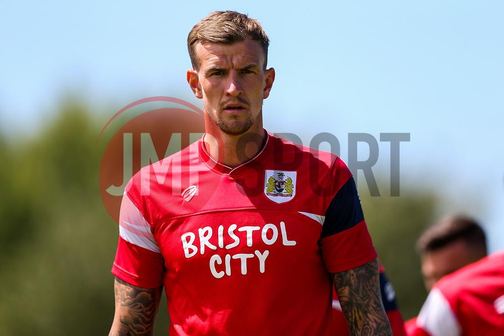 Aden Flint of Bristol City looks on - Rogan/JMP - 08/07/2017 - Footes Lane - Guernsey - Guernsey FC v Bristol City - Pre-season Friendly.