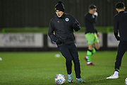 Forest Green Rovers George Williams(11) warming up during the EFL Sky Bet League 2 match between Forest Green Rovers and Port Vale at the New Lawn, Forest Green, United Kingdom on 11 February 2020