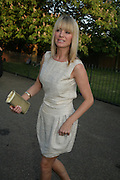 TESS DALY, The Summer Party in association with Swarovski. Co-Chairs: Zaha Hadid and Dennis Hopper, Serpentine Gallery. London. 11 July 2007. <br /> -DO NOT ARCHIVE-© Copyright Photograph by Dafydd Jones. 248 Clapham Rd. London SW9 0PZ. Tel 0207 820 0771. www.dafjones.com.