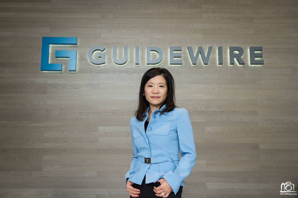Priscilla Hung of Guidewire poses for a portrait at Guidewire in San Mateo, California, on November 15, 2019. (Stan Olszewski for Silicon Valley Business Journal)