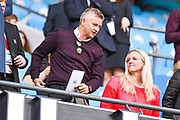 Ole Gunnar Solskjaer, Manager of Manchester United, during the FA Women's Super League match between Manchester City Women and Manchester United Women at the Sport City Academy Stadium, Manchester, United Kingdom on 7 September 2019.