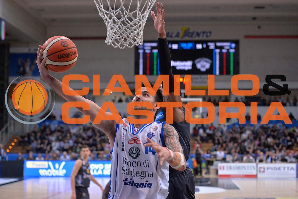 Brian Sacchetti<br /> Dolomiti Energia Aquila Basket Trento - Banco di Sardegna Dinamo Sassari<br /> Lega Basket Serie A 2016/2017<br /> Trento, 08/04/2017<br /> Foto Ciamillo - Castoria