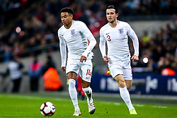 Jesse Lingard of England attacks with Ben Chilwell of England - Mandatory by-line: Robbie Stephenson/JMP - 15/11/2018 - FOOTBALL - Wembley Stadium - London, England - England v United States of America - International Friendly
