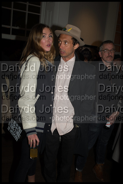 DAISY BOYD; DAN MACMILLAN, Private view, Paul Simonon- Wot no Bike, ICA Nash and Brandon Rooms, London. 20 January 2015