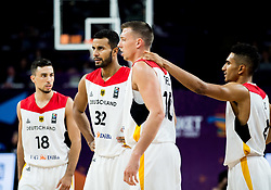 Ismet Akpinar of Germany, Johannes Thiemann of Germany, Daniel Theis of Germany and Maodo Lo of Germany during basketball match between National Teams of Germany and Spain at Day 13 in Round of 16 of the FIBA EuroBasket 2017 at Sinan Erdem Dome in Istanbul, Turkey on September 12, 2017. Photo by Vid Ponikvar / Sportida