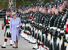 JUNE 28 2013 The Queen visits the Argyll & Sutherland Highlanders
