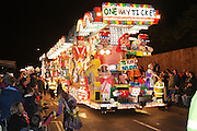 One Way Ticket by Hillview Junior Carnival Club, during the 2011 Bridgwater Guy Fawkes Carnival. Bridgwater Carnival is an annual event to raise money for local charities. It is widely reputed to be the largest illuminated carnival in the world.