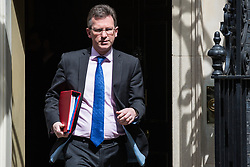 London, UK. 7 May, 2019. Jeremy Wright QC MP, Secretary of State for Digital, Culture, Media and Sport, leaves 10 Downing Street following a Cabinet meeting.