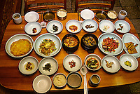 Typical Korean meal, Restaurant Dong Hea, Kyongju, South Korea