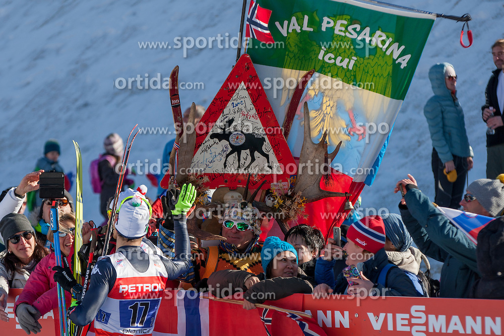 Frederico Pellegrino (ITA) and supporters during the Man team sprint race at FIS Cross Country World Cup Planica 2016, on January 17, 2016 at Planica, Slovenia. Photo By Urban Urbanc / Sportida
