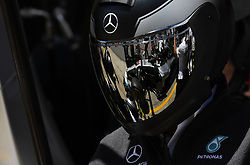 May 13, 2018 - Barcelona, Spain - Motorsports: FIA Formula One World Championship 2018, Grand Prix of Spain, ..Mechanic of Mercedes AMG Petronas Motorsport  (Credit Image: © Hoch Zwei via ZUMA Wire)