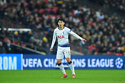 February 13, 2019 - London, England, United Kingdom - Tottenham forward Heung-Min Son during the UEFA Champions League match between Tottenham Hotspur and Ballspielverein Borussia 09 e.V. Dortmund at Wembley Stadium, London on Wednesday 13th February 2019. (Credit: Jon Bromley | MI News & Sport Ltd) (Credit Image: © Mi News/NurPhoto via ZUMA Press)