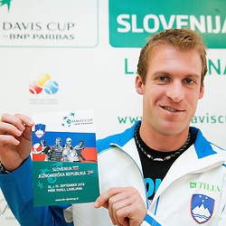 20130910: SLO, Tennis - Press conference of Team Slovenia and team South Africa for Davis Cup 2013