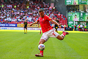 Charlton Athletic defender Ben Purrington (3) during the EFL Sky Bet Championship match between Charlton Athletic and Brentford at The Valley, London, England on 24 August 2019.