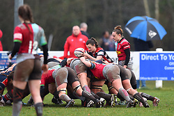 Cat McNaney of Bristol Ladies feeds the scrum - Mandatory by-line: Paul Knight/JMP - 03/02/2018 - RUGBY - Cleve RFC - Bristol, England - Bristol Ladies v Harlequins Ladies - Tyrrells Premier 15s