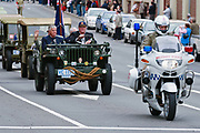 Military Police motorcycle in 2007 ANZAC parade - Hobart, Tasmania