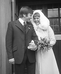 Actor Michael Williams on the day that he wed actress Judi Dench at St. Mary's church, Holly Place, Hampstead.