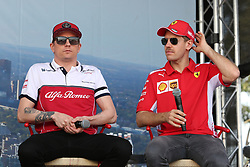 March 16, 2019 - KIMI RAIKKONEN and SEBASTIAN VETTEL attending the F1 Driver Q&A Panel on Qualifying Saturday at the 2019 Formula 1 Australian Grand Prix on March 16, 2019 In Melbourne, Australia  (Credit Image: © Christopher Khoury/Australian Press Agency via ZUMA  Wire)