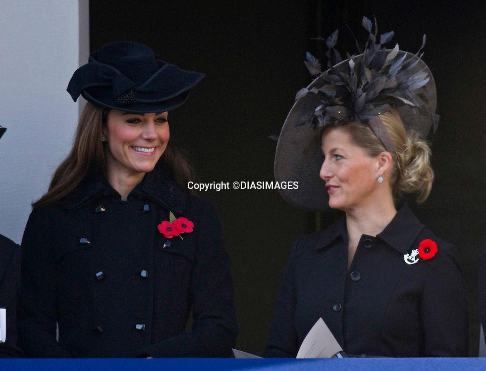 "CATHERINE, DUCHESS OF CAMBRIDGE AND SOPHIE, COUNTESS OF WESSEX, REMEMBRANCE SERVICE.Kate's attended her 1st Remembrance Service with members of the Royal Family at the Cenotaph, London_13th November 2011.Photo Credit Mandatory: ©Dias/DIASIMAGES..Mandatory credit photo:©DIASIMAGES(Failure to credit will incur a surcharge of 100% of reproduction fees)..**ALL FEES PAYABLE TO: ""NEWSPIX  INTERNATIONAL""**..IMMEDIATE CONFIRMATION OF USAGE REQUIRED:.DiasImages, 31a Chinnery Hill, Bishop's Stortford, ENGLAND CM23 3PS.Tel:+441279 324672  ; Fax: +441279656877.Mobile:  07775681153.e-mail: info@newspixinternational.co.uk"