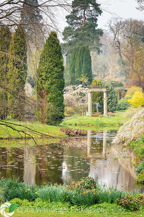 The beautiful Temple Garden at Cholmondeley Castle, Cheshire are beautiful throughout the year, but are a special delight in spring and autumn.