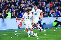 Bernardo SILVA / Fabinho - 04.01.2014 - Nimes / Monaco - Coupe de France<br />Photo : Nicolas Guyonnet / Icon Sport