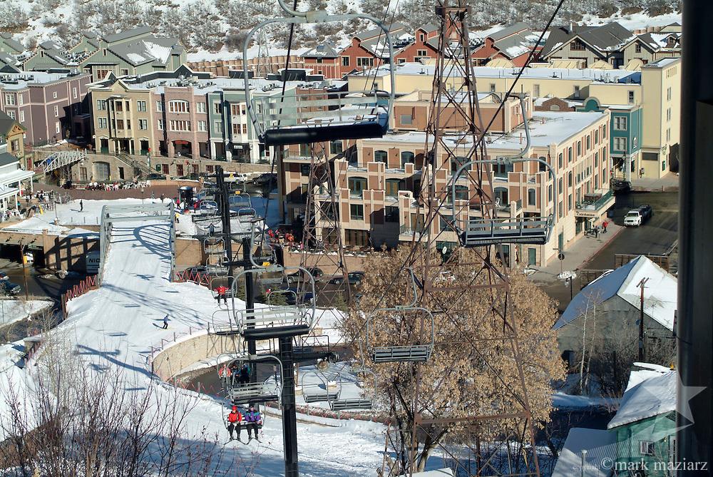Town Lift in town of Park City, Utah