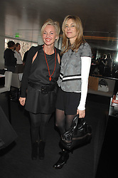 Left to right, AMANDA ELIASCH and KIM HERSOV at a lunch to celebrate the launch of the Top Tips for Girls website (toptips.com) founded by Kate Reardon held at Armani, Brompton Road, London on 5th March 2007.<br />