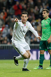 06.12.2014, Estadio Santiago Bernabeu, Madrid, ESP, Primera Division, Real Madrid vs Celta Vigo, 14. Runde, im Bild Real Madrid&acute;s Cristiano Ronaldo celebrates a goal // during the Spanish Primera Division 14th round match between Real Madrid CF and Celta Vigo at the Estadio Santiago Bernabeu in Madrid, Spain on 2014/12/06. EXPA Pictures &copy; 2014, PhotoCredit: EXPA/ Alterphotos/ Victor Blanco<br /> <br /> *****ATTENTION - OUT of ESP, SUI*****