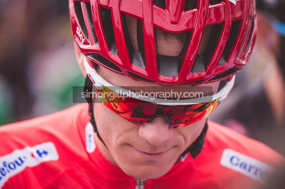 September 7th 2017, Suances to Santo Toribio de Liébana, Spain; Cycling, Vuelta a Espana Stage 18; Chris Froome