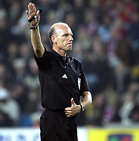 Fotball , 08. oktober 2005 , VM-kvalifisering , Norge - Moldova 1-0<br /> Norway - Moldova<br /> dommer Stephen Bennett