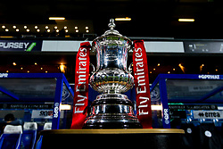 The Emirates FA Cup Trophy - Mandatory by-line: Robbie Stephenson/JMP - 15/02/2019 - FOOTBALL - Loftus Road - London, England - Queens Park Rangers v Watford - Emirates FA Cup fifth round proper
