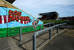 A general view of Sincil Bank, home to Lincoln City - Mandatory by-line: Robbie Stephenson/JMP - 14/09/2019 - FOOTBALL - Sincil Bank Stadium - Lincoln, England - Lincoln City v Bristol Rovers - Sky Bet League One