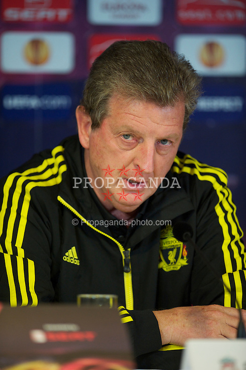 UTRECHT, THE NETHERLANDS - Wednesday, September 29, 2010: Liverpool's manager Roy Hodgson during a press conference at the Stadion Galgenwaard ahead of the UEFA Europa League Group K match against FC Utrecht. (Photo by David Rawcliffe/Propaganda)