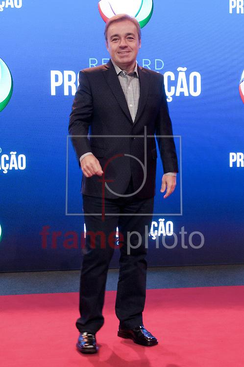 São Paulo (SP) 05/02/2015. Augusto Liberato (Gugu) - Durante coletiva de impresa na Record. RECORD PROGRAMAÇÃO 2015. Barra Funda. Foto: Fábio Guinalz/Frame