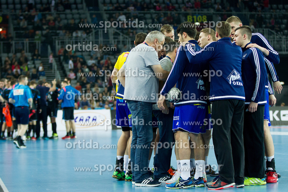Team RK Celje Pivovarna Lasko during handball match between PPD Zagreb (CRO) and RK Celje Pivovarna Lasko (SLO) in 13th Round of Group Phase of EHF Champions League 2015/16, on February 27, 2016 in Arena Zagreb, Zagreb, Croatia. Photo by Urban Urbanc / Sportida